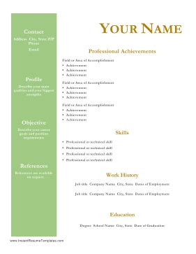 Resume references format free