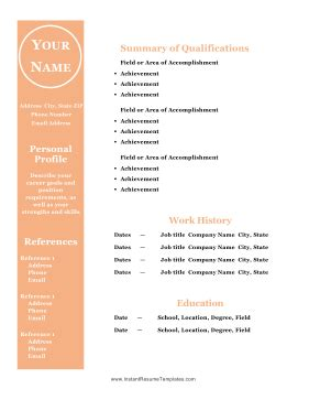 Resume Reference Page, Occupational: examples, samples Free